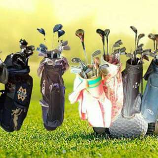 Golf package set, druvers, golf clubs