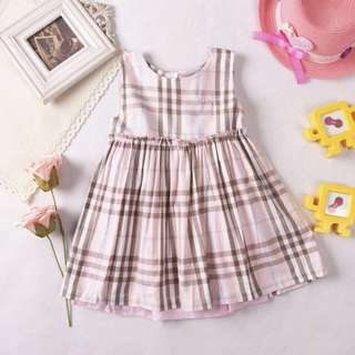 ✅Ready stock-Baby Girl pink Dress Burberry