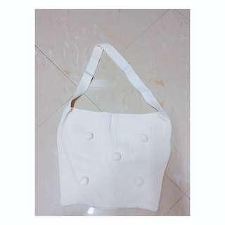 白色針織毛冷袋 (超可愛!!)😍