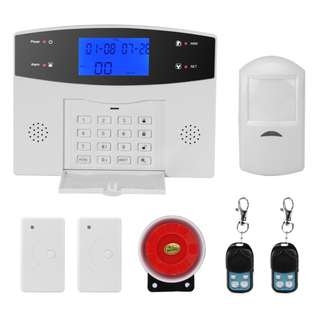 286 (Brand new) Danmini Security Alarm System - GSM, SMS Notifications, 8 Wired Defense Zones + 99 Wireless Defense Zones, 110dB Siren
