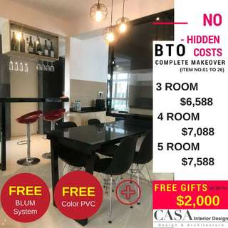 3 Room BTO Renovation Package
