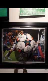 Signed Lionel Messi Photo frame