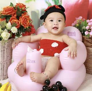INFLATABLE Baby Sofa / Training Chair / Bathing Chair ( IN-BUILT PUMP )