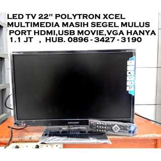 "Led Tv PoLyTRoN XceL 22""SeGeL Fresh Hdmi UsbMovie VGA KATAPANG SOREANG"