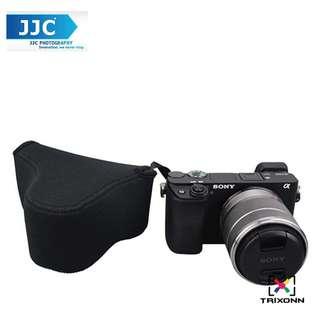 JJC OC-S2BK Neoprene Camera Case Mirrorless For SONY A6300, A6000, A5100, A5000 with 18-55mm CANON G3X, SX540HS, SX530HS, SX520HS CANON M3 with 18-55mm lens