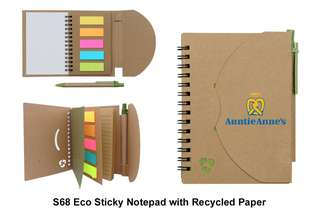 Wholesale Eco Sticky Notepads w/ Recycled Paper