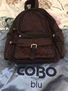 Cobo Brown colour backpack 36 cm x 30 cm x23 cm