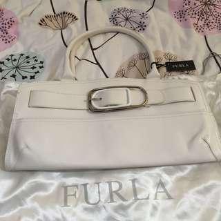 Furla  white color new bag 40cm c20cm x11 cm