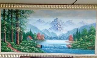 招財風水油畫 有洛款(名大師H'L Chan)值得收藏