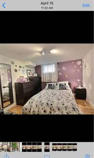 One bedroom bright basement apartment available