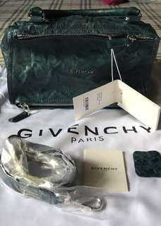 Authentic givenchy pandora small in pepe leather oil blue
