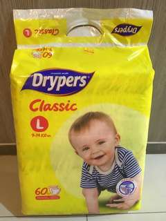 Drypers classic L size