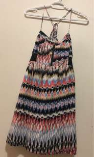 Summer dress with back crisscross