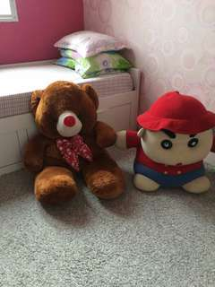 Patung teddy bear & shincan