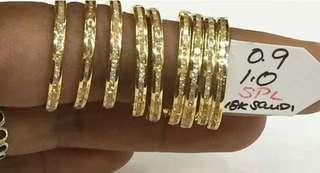 18k saudi gold eternity ring