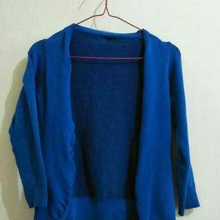 Cardigan biru #mausupreme