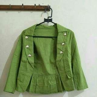 Blazer hijau #mausupreme