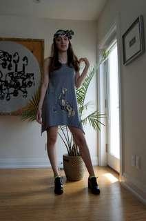 Bicycle print summer dress