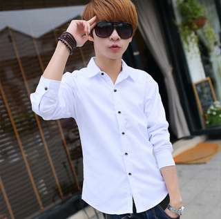 💋 Long Sleeve Formal Shirt (White)