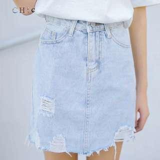 Lightblue denim skirt