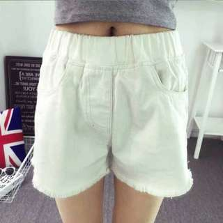 Korea White Denim shorts