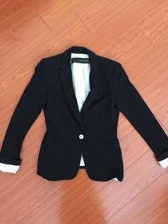 Zara Small Black Casual Blazer