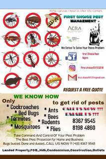 First Choice Pest Mgmt
