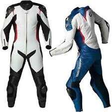White Motorbike Leather Racing Suit for best Rider