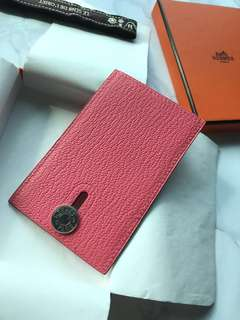 Hermes Diabolo Lipstick Pink card holder