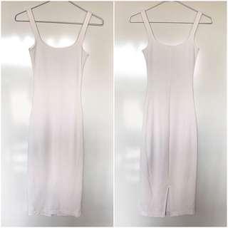 American Apparel Midi Dress - White
