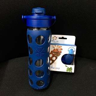 Lifefactory Glass Water Bottle + New Replacement Cap