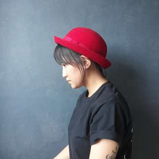 H&M Red Bowler Hat