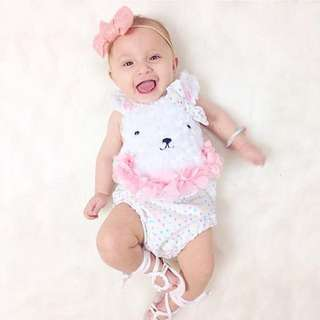 ✔️STOCK - FURRY CUTE BEAR UNISEX NEWBORN BABY TODDLER BOY/GIRL ROMPER ONESIE KIDS CHILDREN CLOTHING