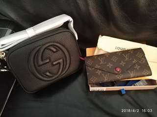 Gucci and Louis Vuitton
