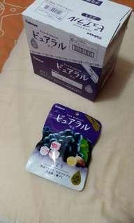 日本Kabaya卡巴流心軟糖 (葡萄味)