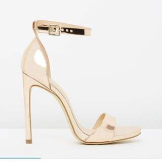 Brand new Verali Rose Gold Heels Size 39
