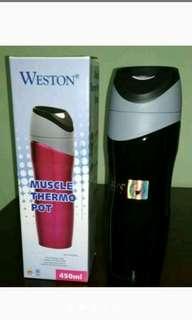 """Tesmos Muscle Thermo Pot """"Weston"""" Warna Hitam"""