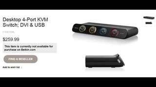 4 port Belkin KVM switch