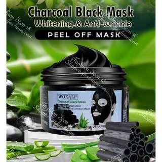 Wokali Charcoal Black Mask 300 grams