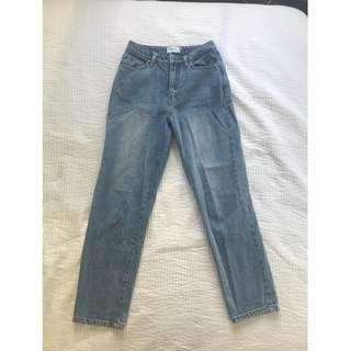 MINKPINK Berlin Straight Leg Denim Jeans - Size XS