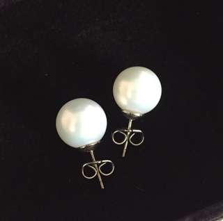 Fancy White Pearl Earrings