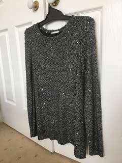 Size XS/S warm sparkly jumper