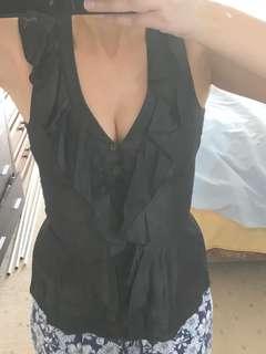 Size 6 - cue peplum blouse 👚