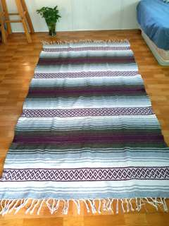 A Meditation mat. Made in Mexico.  Size: 110 cm X  178 cm