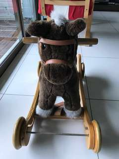 Rock and ride wooden horse