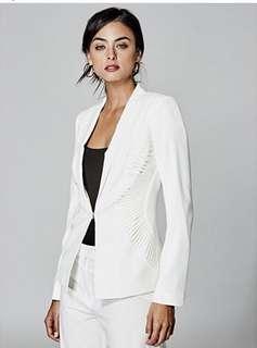 Marciano Daliah Crepe white blazer, size S