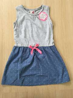 Cotton On Grey & Denim Dress