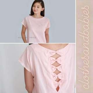 Ribbon-back Pink Top