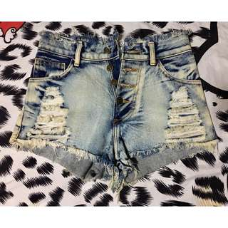 High Waist Denim Shorts | Pre Loved