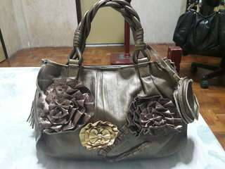 RENOMA Genuine Leather Bronze Handbag